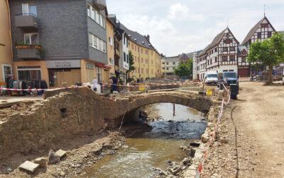 Übersicht der Baumaßnahmen im südlichen Verbandsgebiet in Folge des Hochwassers im Juli 2021